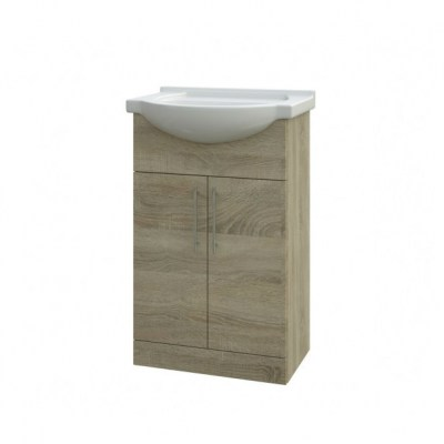 bordeaux oak 550 cabinet and basin8